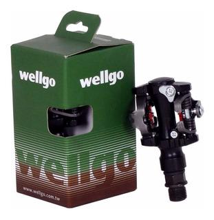 Pedal Bike Clip Sapatilha Wellgo M919 Rolamento Mtb C/ Tacos