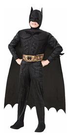 Fantasia Infantil Batman Com Músculo Luxo - Pronta Entrega