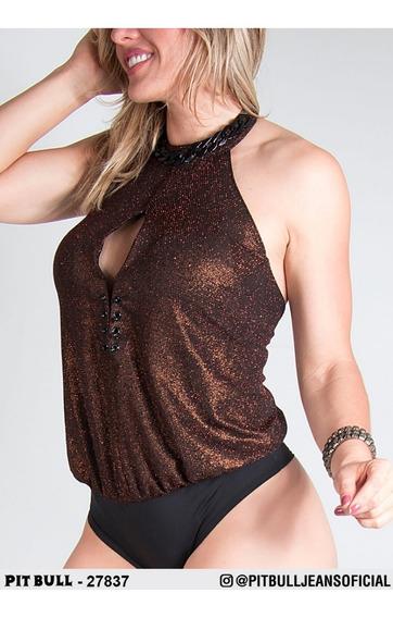Body Feminina Pit Bull Malha 27837