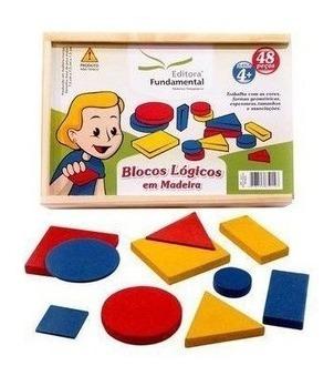 Jogo  Pedagógico Blocos Lógicos 48 Peças