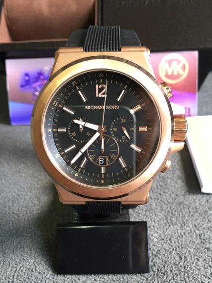 Relógio Michael Kors Mk8184 Preto Original Completo C/ Caixa