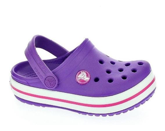 Crocs Crocband Niña Violeta Original