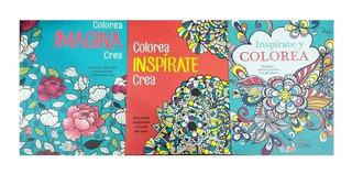 Mandalas 3 Libros Para Colorear Mas 10 Plumones + Envío