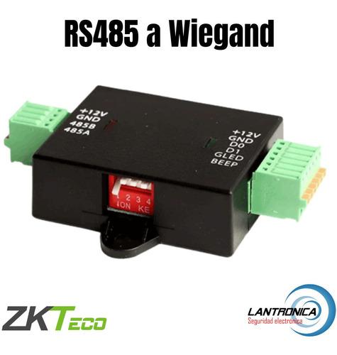 Imagen 1 de 10 de Conversor Rs485 A Wiegand Wr485 Zkteco Para C2-260