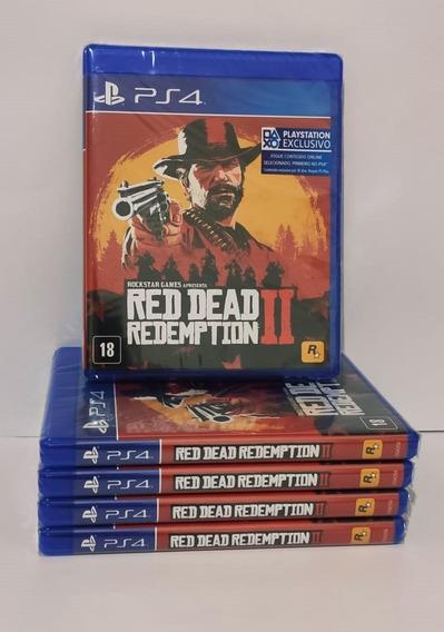Jogo Red Dead Redemption 2 Ps4 Mídia Fisica Lacrado + Brinde