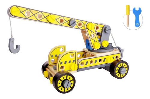Grua De Madera De Tooky Toy (tkf036)