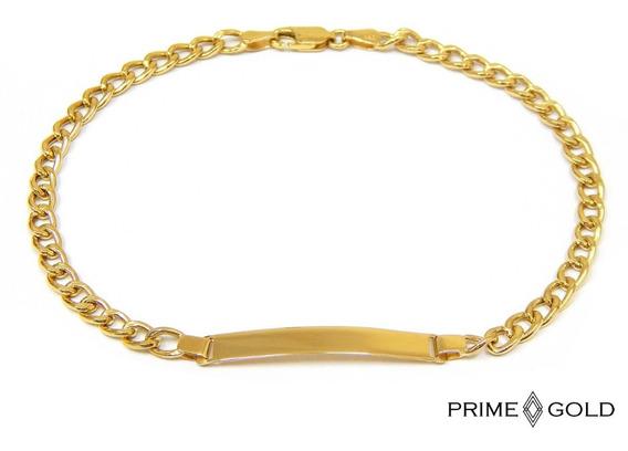 Pulseira Masculina De Chapa Grumet Em Ouro 18k