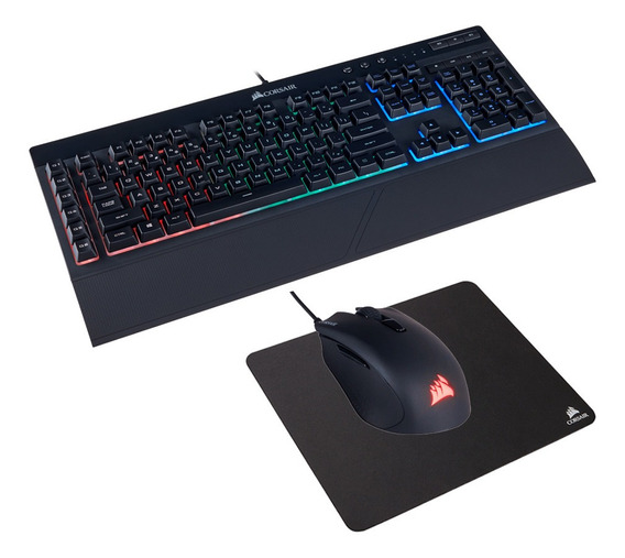 Pack Gamer Corsair Teclado K55 Mouse Harpoon Y Mouse Pad
