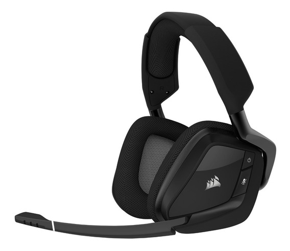 Headset Corsair Void Pro Wireless Dolby 7.1 Carbon Lacrado