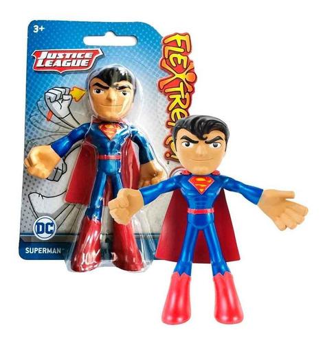 Figura Superman 10cm Bendy Liga De La Justicia Dc Comics