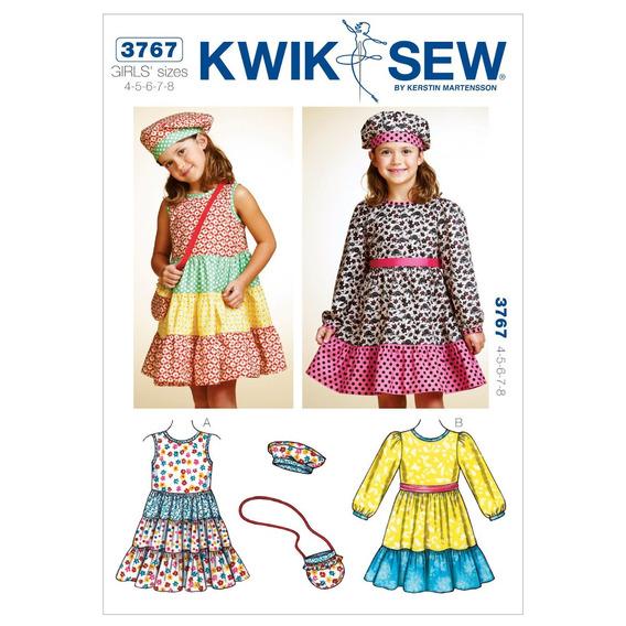 Kwik Sew K3767 Vestidos Patrón De Costura, Sombrero Y El Bo