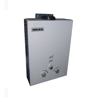 Calefon A Gas Bram Metal 6 Lts Gas Natural O Gas Envasado