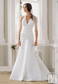 Vestido De Noiva - Branco - 38 - Pronta Entrega - Vn00061