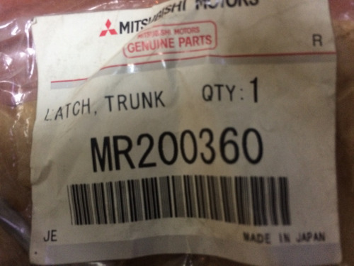 Cerradura Maleta Mitsubishi Signo/lancer