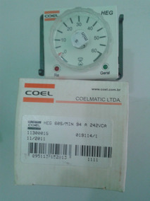 Heg 60s/min Temporizador Coel 94 A 242vca