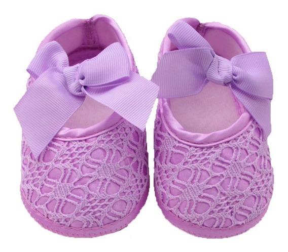 Zapato Bebes Blandos Antideslizantes Bebita Encaje Elegante