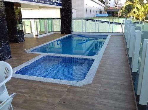Imagem 1 de 13 de Apartamento 2 Dormitorio Caiçara 100m Da Praia Amj175