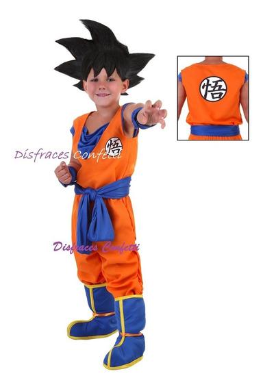 Disfraz Goku Para Niño Dragon Ball Z Envio Express Gratis