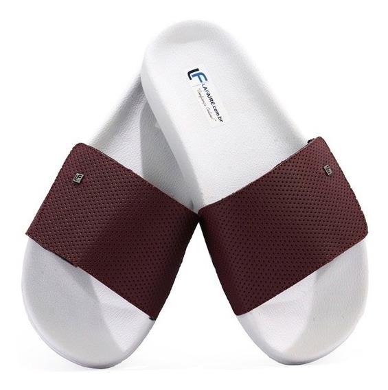 Chinelo Slide Masculino Velcro Ajustável Casual Branco Cores