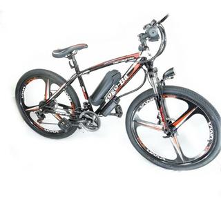 Bicicleta Bici Electrica Sport 350w Rodada 26 + Casco Moto