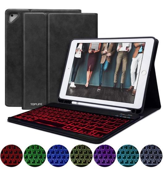 Capa iPad Pro 9.7 Teclado Iluminado 6th Apple Pencil Case