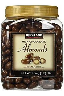 Kirkland Signature Leche De Chocolate Almendras Asadas, 48 ¿