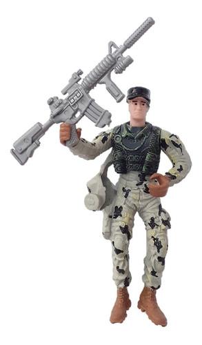Soldados Articulados Grandes Set Kit Vehiculo Guerra Militar