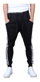 Calça De Moleton Masculina Saruel Skinny Sport Luxo