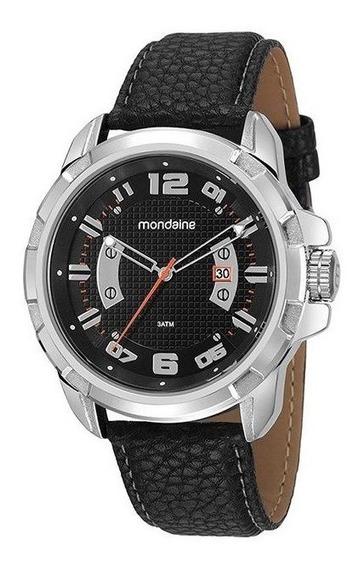 Relógio Mondaine Masculino Prata/preto 99275g0mvnh1