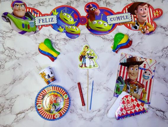 Combo Kit Set Toy Story Feliz Cumpleaños Cotillon