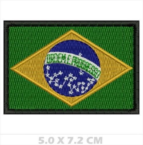 Imagem 1 de 2 de Patch Bordado Bandeira Do Brasil