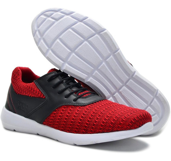 Tênis Caminhada Free Jump Pl08 Vermelho