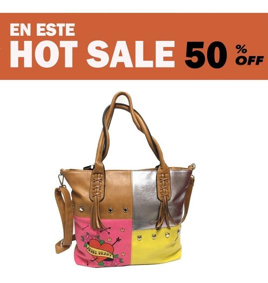 Oferta Hot Sale Descuento Cartera Mujer Javera Sa1982 Maple