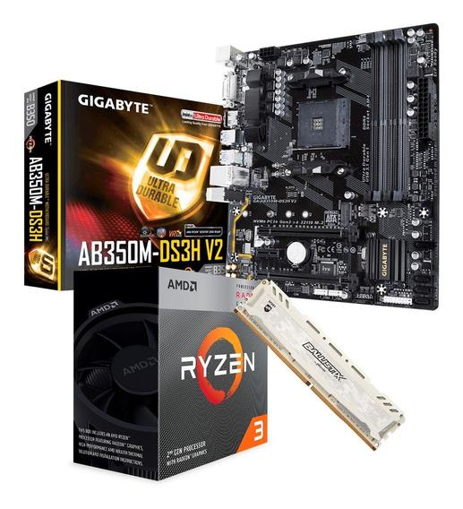 Combo Actualización Amd Ryzen 3 3200g + Ab350m + 8gb Logg