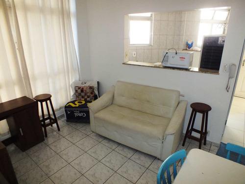 Imagem 1 de 30 de Apartamento Com 1 Dorm, Itararé, São Vicente - R$ 205 Mil, Cod: 1404 - V1404