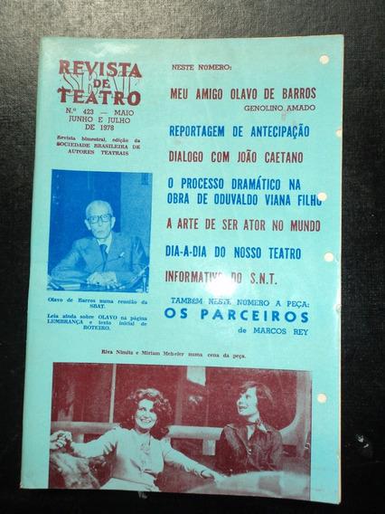 Lote C/ 04 Revistas Antigas-revista De Teatro-sbat- 1978/84