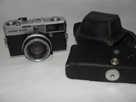 Antiga Camera Olympus 35 Sp Maquina Fotografica