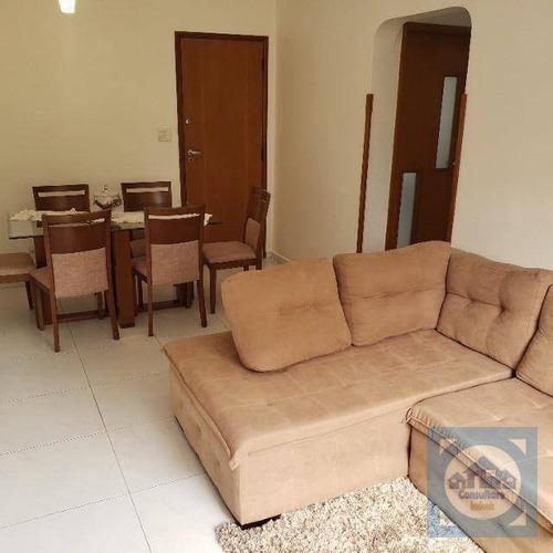 Apartamento Com 3 Dormitórios À Venda, 77 M² Por R$ 439.900,00 - Boqueirão - Santos/sp - Ap5856