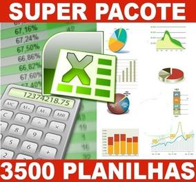 + De 3500 Planilhas Excel 100% Editável + Brinde Frete Grati