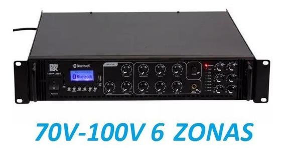 Amplificador De Audio Para Ambiente Musical De 6 Zonas 180 W