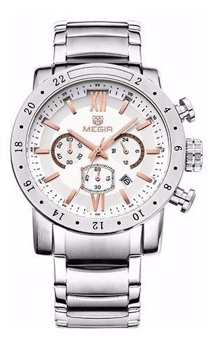 Relógio Megir Cronographic Masculino 3008 - Pronta Entrega!