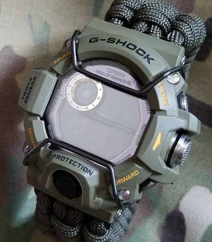 Protetor Metálico Bullbar Jaysandkays P/ Relógio G-shock Gw9400 Rangeman E Gravity Master Gwa1100 Ga1100 Ga1000 + Brinde