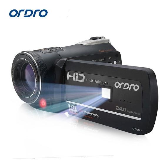 Camera Filmadora Semi Profissional Com Visão Noturna Ful Hd