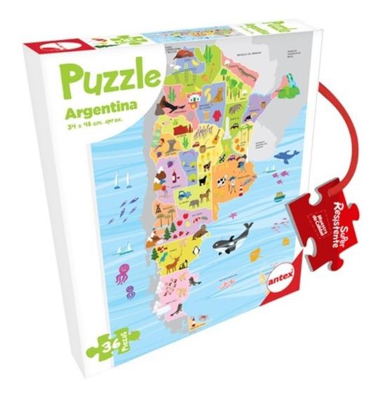 Puzzle 36 Piezas Rompecabezas Argentina Ó Mapamundi Resisten