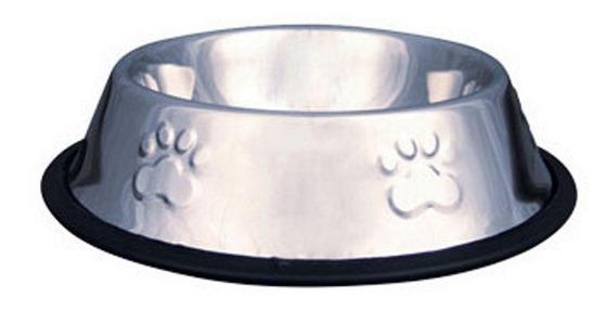 Comedouro / Bebedouro Inox Antiderrapante Cães E Gatos 480ml