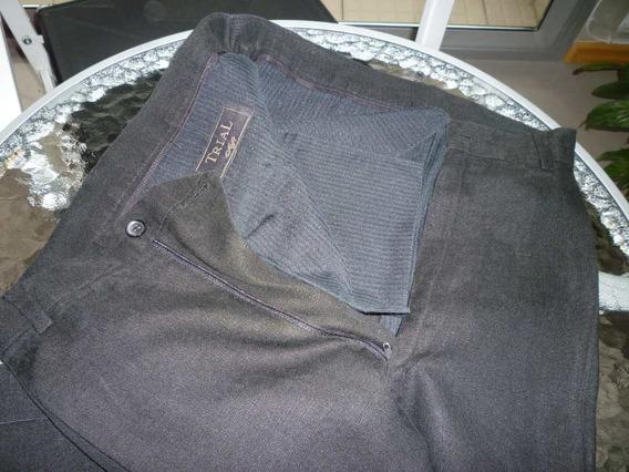 Pantalon Trial Soft Lino Negro Excelente