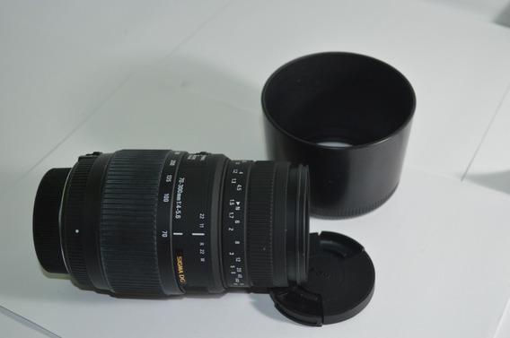 Lente Sigma Dg 70-300mm F/4-5.6 Autofocus Zoom- Super Promoção - Oferta