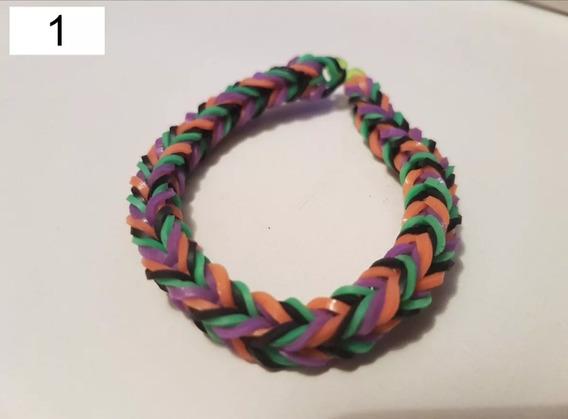 Pulseira Elastico 1 - Rainbow Loom Lote Com 6 Unidades Moda