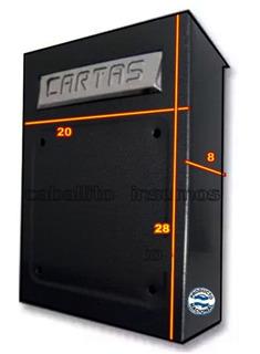 Buzon Para Reja Domiciliario Carta Boca 15x4 Cm