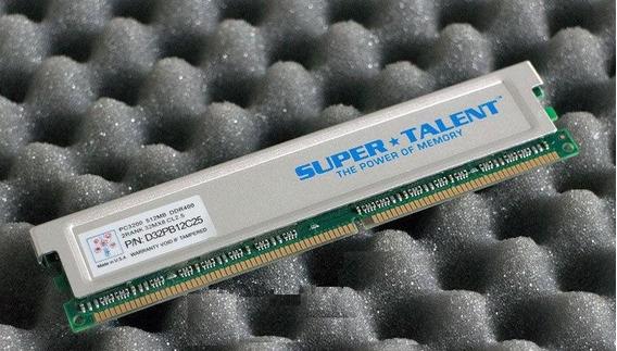 Super Talent D32pb12c25 Pc3200 512mb Ddr400 Memory Ram